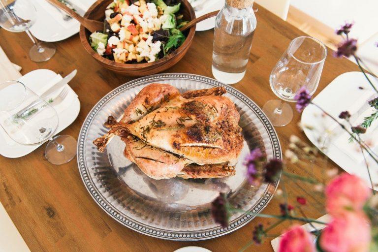 dinner, meal, chicken